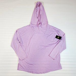 NWT Athletic Works Women's Lavender Tunic Hoodie